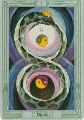 Two of Coins in Thoth Tarot