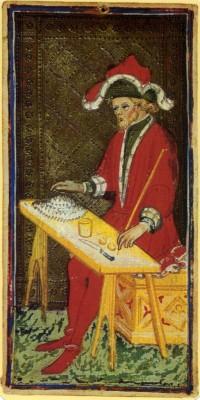 The Magician in Visconti Sforza Tarot