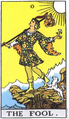The Fool in Rider Waite Tarot