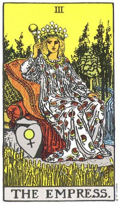 The Empress in RIder Waite Tarot