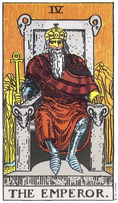 The Emperor in Rider Waite Tarot