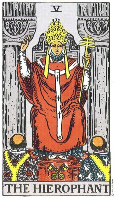 The Hierophant in Rider Waite Tarot