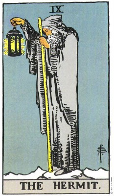 The Hermit in Rider Waite Tarot
