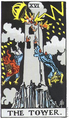 The Tower in Rider Waite Tarot