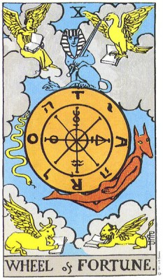 Wheel of Fortune in RIder Waite Tarot