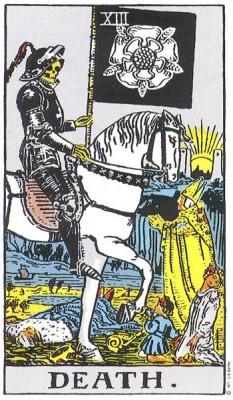 Death in Rider Waite Tarot