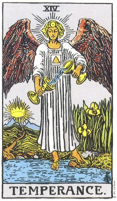 Temperance in Rider Waite Tarot