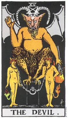 The Devil in Rider Waite Tarot